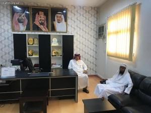 مدير مكتب التعليم بمحافظة البرك يستقبل رئيس الجمعية