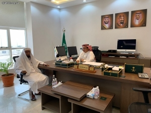 رئيس بلدية محافظة البرك يستقبل رئيس الجمعية
